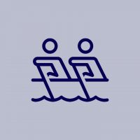 Icon graphic showing 2 people in a boat together