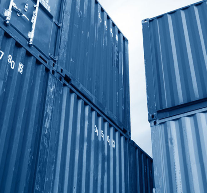Waste management systems for food waste in modular, autonomous shipping containers